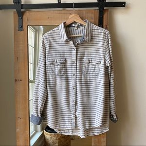 Toad & Co. Striped Organic Cotton Button up shirt